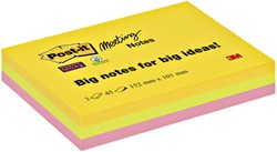 Memoblok 3M Post-it 6445 Super Sticky 152x101mm assorti