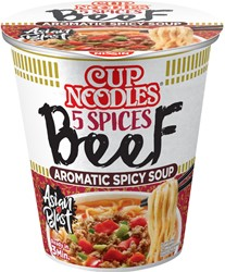 Noodles Nissin 5 spices beef cup