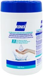 Alcoholdoekjes Konix hand en huid dispenser à 100 stuks