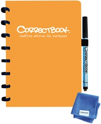 Notitieboek Correctbook A5 blanco 40blz peachy orange