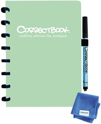 Notitieboek Correctbook A5 lijn 40blz misty mint