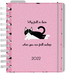 Agenda 2022 diary DIY roze