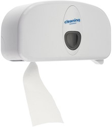 Dispenser Cleaninq Duo Toiletpapier wit