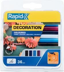 Lijmpatroon Rapid 7mm 5 kleuren assorti