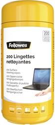 Reinigingsdoekjes Fellowes oppervlakte dispenser 200stuks