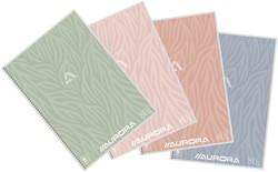 Schrift Aurora A4 120blz 80gr spiraal lijn assorti