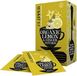 Thee Clipper Infusion Lemon & Ginger bio 25stuks