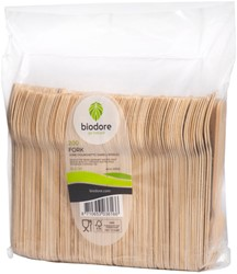 Vork Biodore hout 165mm 200 stuks