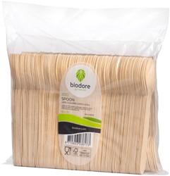 Lepel Biodore hout 165mm 200 stuks