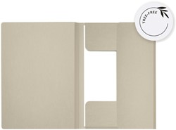 Dossiermap Secolor Tree-Free folio 3 kleppen 226gr grijs