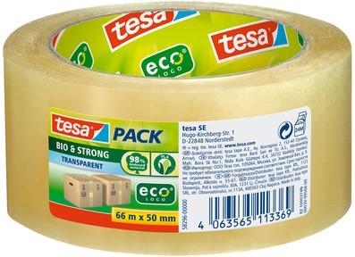 Verpakkingstape Tesa 58296 Bio & Strong  50mmx66m transparant
