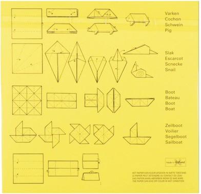 Vouwblaadjes vierkant 12x12cm 65gram assorti-3