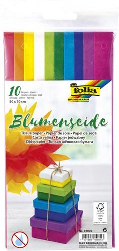 Zijdevloeipapier Folia 50x70cm 20gr assorti