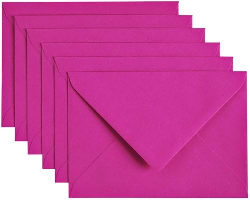 Envelop Papicolor C6 114x162mm felroze