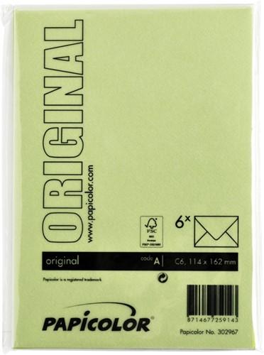 Envelop Papicolor C6 114x162mm appelgroen-3