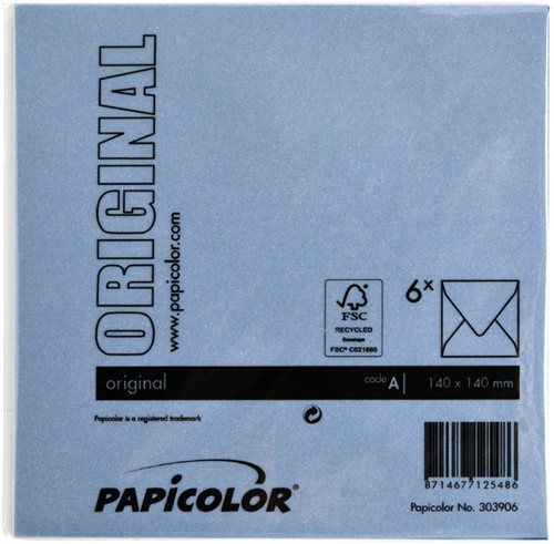 Envelop Papicolor 140x140mm donkerblauw-3
