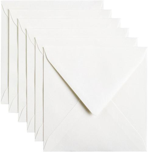 Envelop Papicolor 140x140mm hagelwit