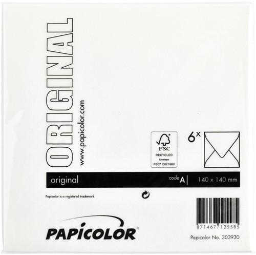 Envelop Papicolor 140x140mm hagelwit-3