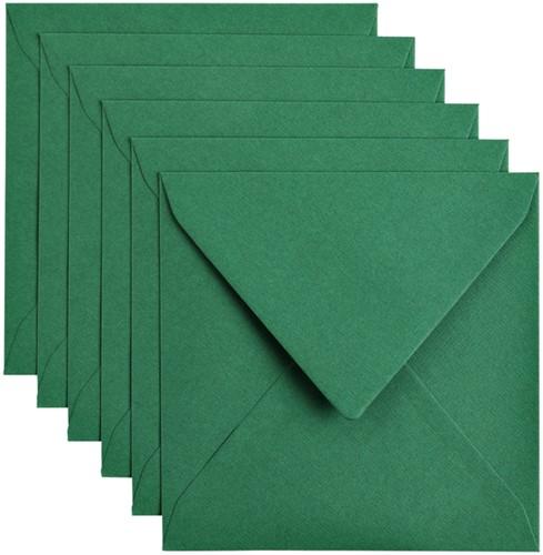 Envelop Papicolor 140x140mm dennengroen
