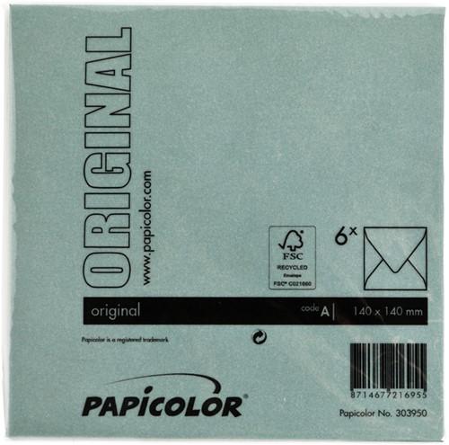 Envelop Papicolor 140x140mm dennengroen-3