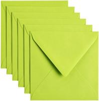 Envelop Papicolor 140x140mm appelgroen