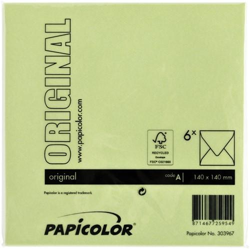 Envelop Papicolor 140x140mm appelgroen-3