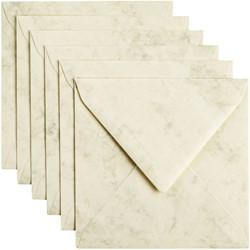 Envelop Papicolor 140x140mm marble Ivoor