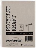 Correspondentiekaart Papicolor dubbel 105x148mm Kraft grijs-3