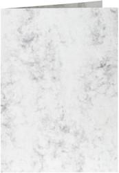 Correspondentiekaart Papicolor dubbel 105x148mm Marble grijs