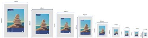 Fotolijst MAUL 70x100cm lijst zilverkleurig-3