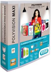 Presentatieringband Elba Polyvision Maxi A4 XL 4-rings D-mech 40mm transparant