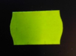 Etiket 26x16 Fluor Geel *1*