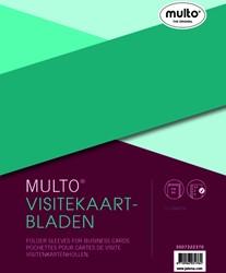 Showtas Multo 23-gaats PP voor 10 visitekaartjes