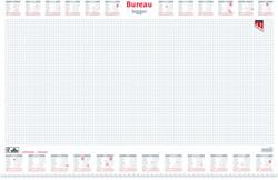 Bureau-onderlegblok 2020 Quantore ruit 56,5X36CM  wit