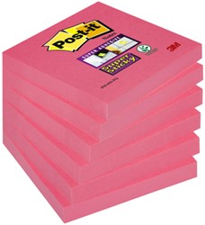 Memoblok 3M Post-it 654 Super Sticky 76x76mm poppy