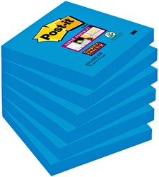 Memoblok 3M Post-it 654 Super Sticky 76x76mm blauw