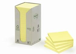 Memoblok 3M Post-it 654YRT 76x76mm 16 stuks recycled pastel geel