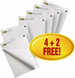 Meeting chart 3M Post-it 559 Super Sticky 635x762mm blanco 4+2 gratis