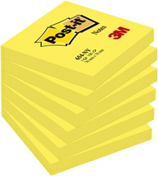 Memoblok 3M Post-it 654 76x76mm neon geel