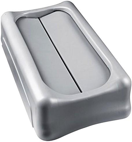 Afvalbakdeksel tuimeldeksel Slim Jim grijs-3