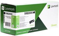 Tonercartridge Lexmark 51B2000 zwart