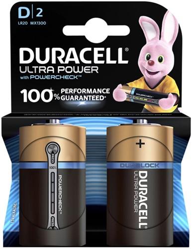 Batterij Duracell Ultra Power 2xD MX1300