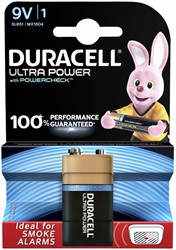 Batterij Duracell Ultra Power 1x9Volt MX1604