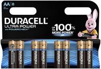 Batterij Duracell Ultra Power 8xAA alkaline