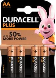 Batterij Duracell Plus Power 4xAA alkaline
