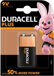Batterij Duracell Plus Power 1x9Volt MN1604