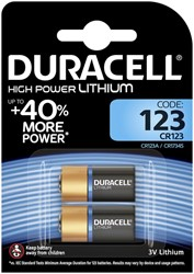 Batterij Duracell 2xCR123 high power lithium