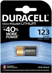 Batterij Duracell 1x123 high power lithium