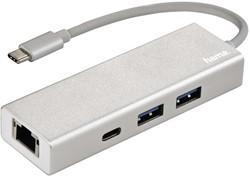 Hub Hama 3.1 USB-C naar USB-A 2x + USB-C + LAN