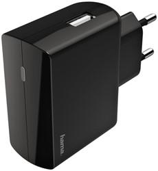 Oplader Hama USB-A 2.4A zwart